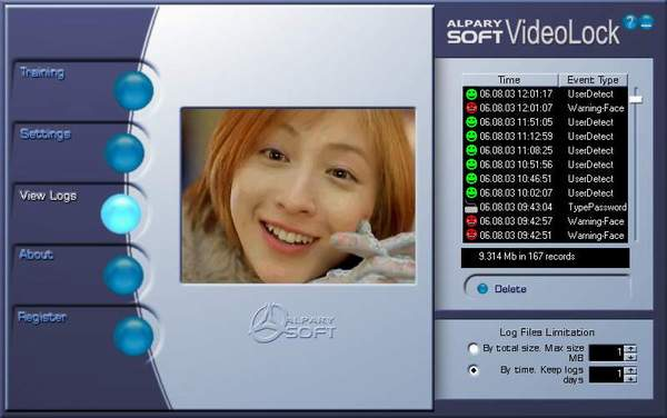 Alparysoft VideoLock for Webcam